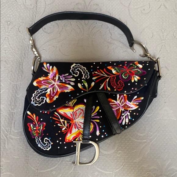 Christian Dior Butterfly Saddle Bag
